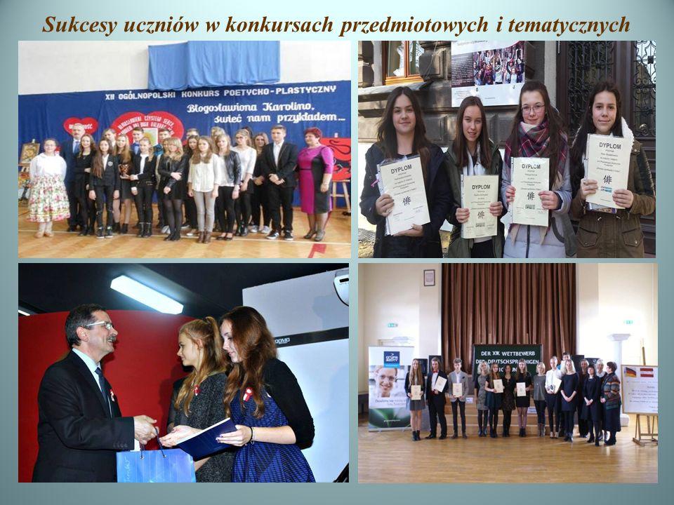 Sukcesy uczniów w konkursach przedmiotowych i tematycznych