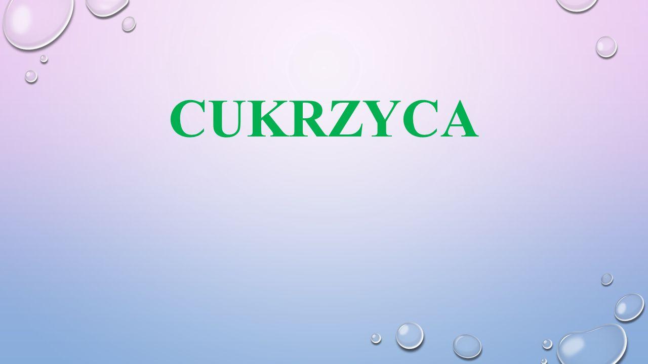 CUKRZYCA TYPU 2 Patogeneza cukrzycy typu 2: predyspozycja genetyczna, związana głównie z zaburzeniami sekrecji insuliny oraz opornością tkanek obwodowych (mięśni, wątroby, tkanki tłuszczowej) na jej działanie.
