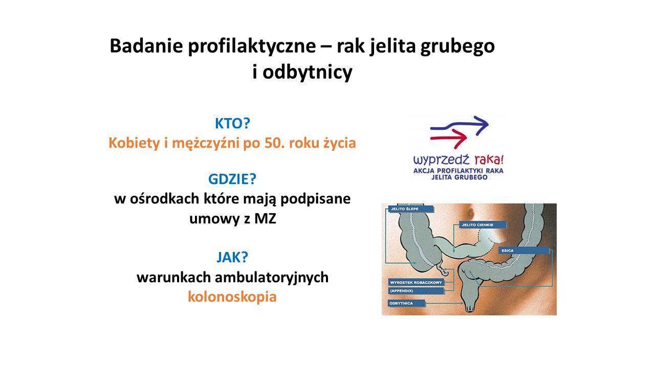 Badanie profilaktyczne – rak jelita grubego i odbytnicy KTO.