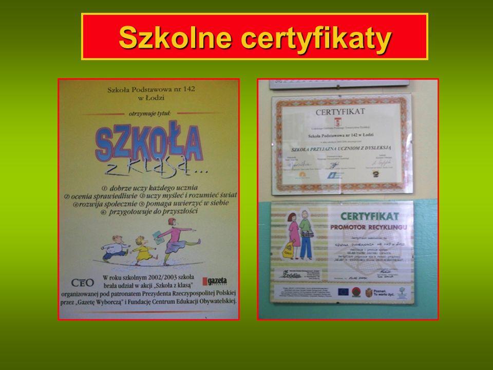 Szkolne certyfikaty
