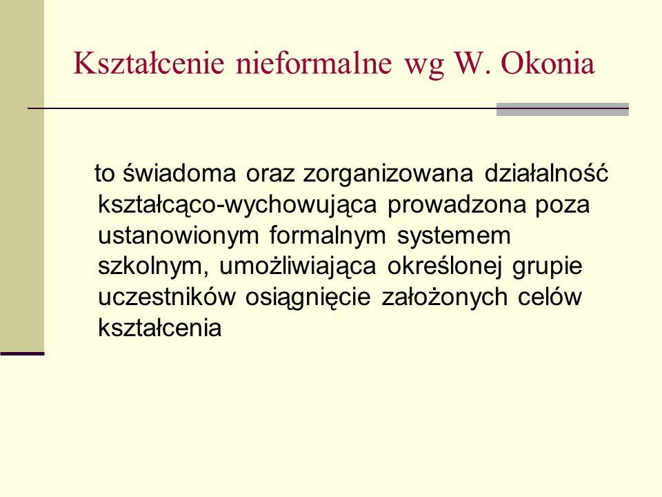 Kształcenie nieformalne wg W.