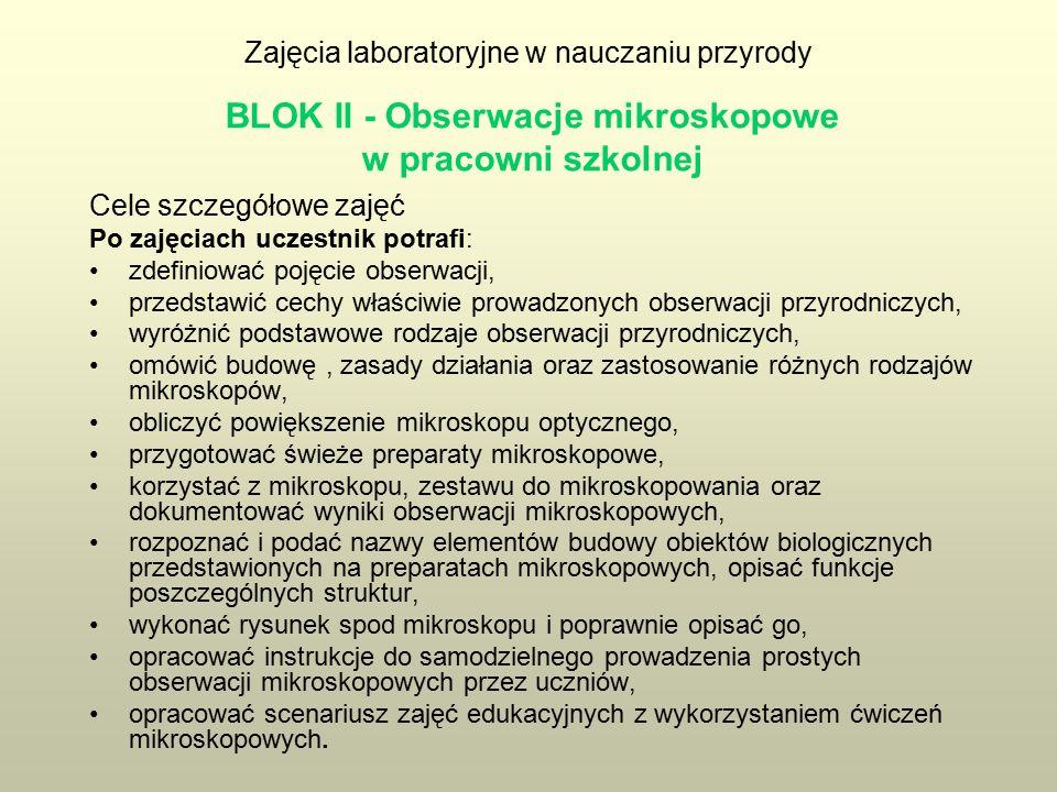 Obserwacje mikroskopowe w pracowni szkolnej Obserwacja (Słownik języka polskiego PWN) – uważne przyglądanie się czemuś, dokonywanie planowych, systematycznych spostrzeżeń.