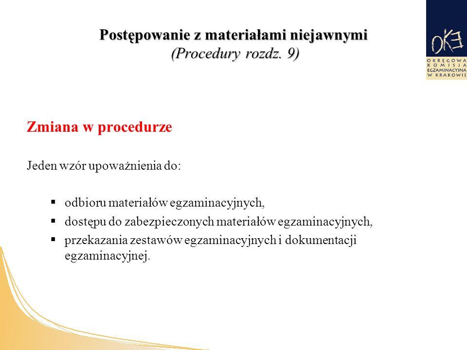 Postępowanie z materiałami niejawnymi (Procedury rozdz.