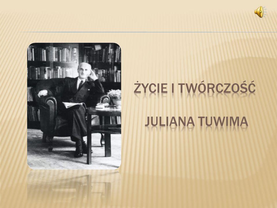 W 2013 roku przypadają sześćdziesiąta rocznica śmierci i stulecie poetyckiego debiutu Juliana Tuwima.