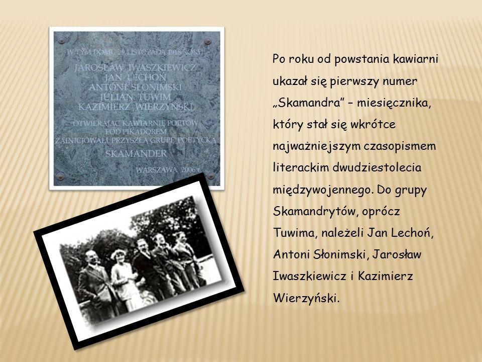 W następnych latach ukazywały się kolejne tomy poezji Tuwima: Sokrates tańczący (1920), Siódma jesień (1922), Wierszy tom czwarty (1923), Słowa we krwi (1926), Rzecz czarnoleska (1929), Biblia cygańska (1932) i Treść gorejąca (1936).