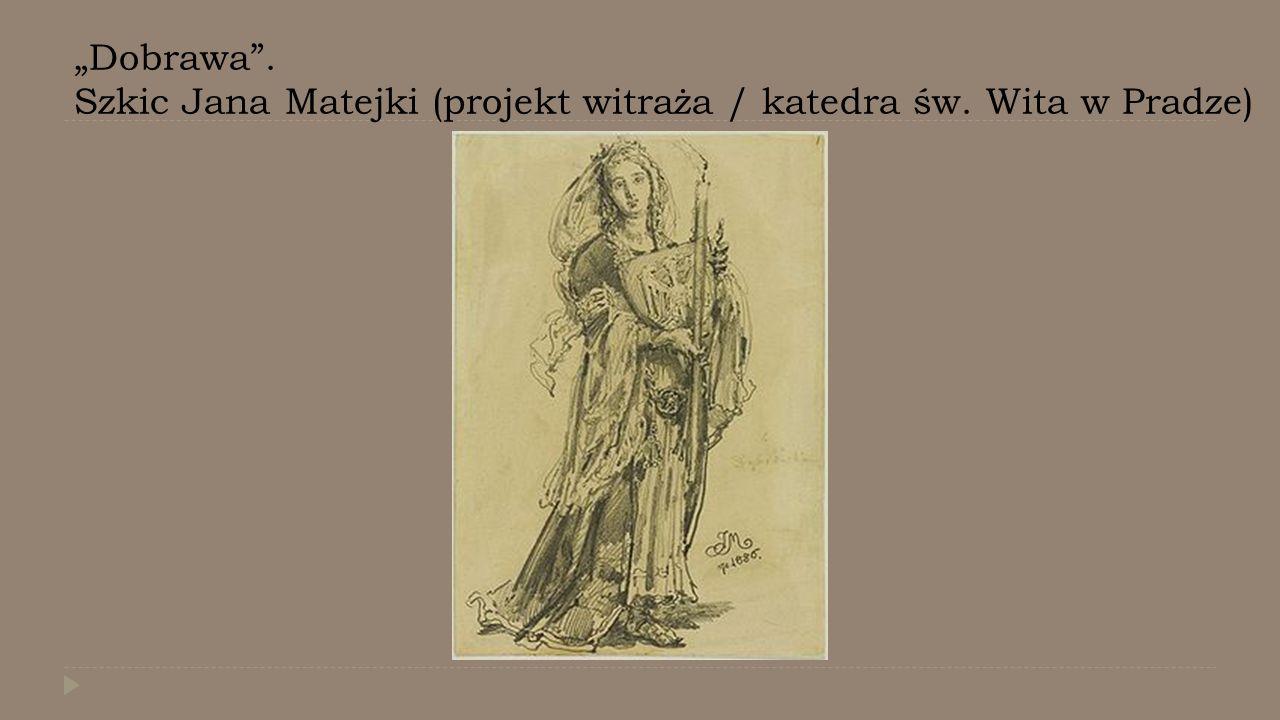 """""""Dobrawa"""". Szkic Jana Matejki (projekt witraża / katedra św. Wita w Pradze)"""