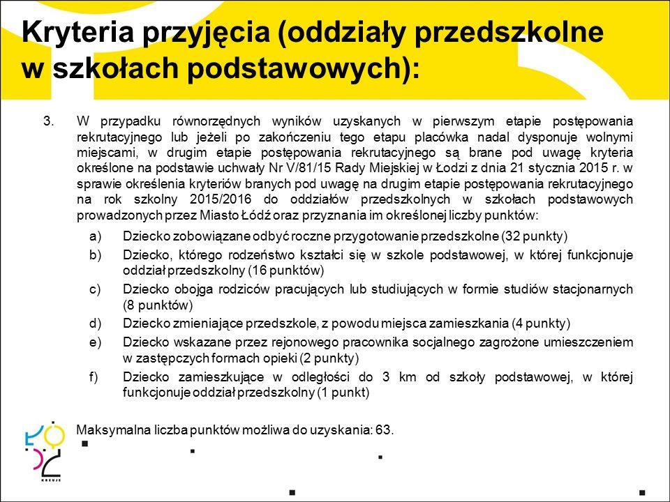 Postępowanie rekrutacyjne: 1.2 marca 2015 r.o godz.