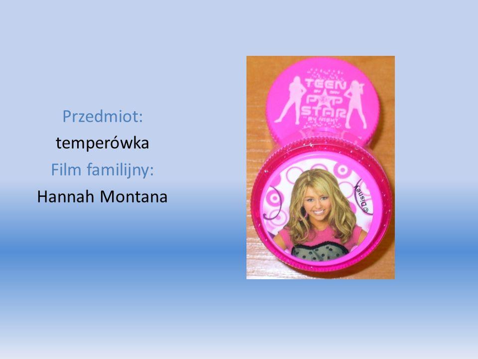 Przedmiot: temperówka Film familijny: Hannah Montana