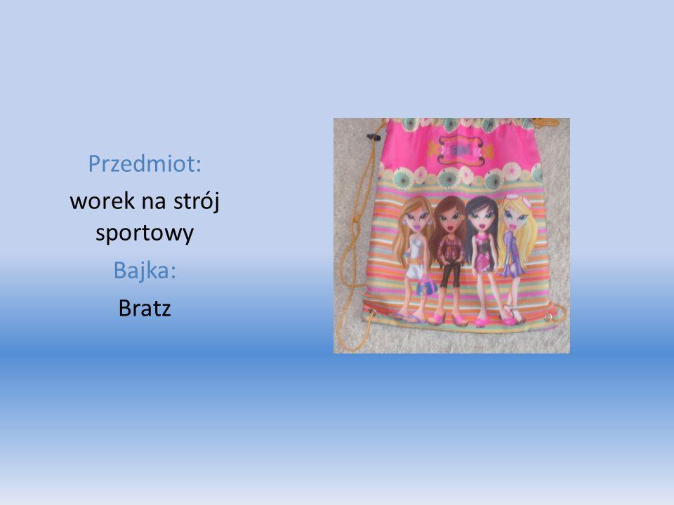 Przedmiot: worek na strój sportowy Bajka: Bratz