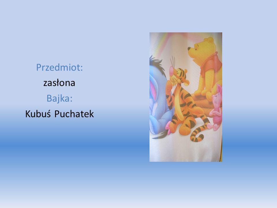 Przedmiot: zasłona Bajka: Kubuś Puchatek