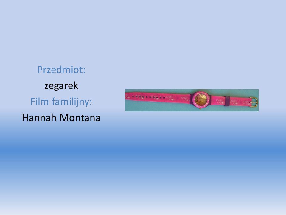 Przedmiot: zegarek Film familijny: Hannah Montana
