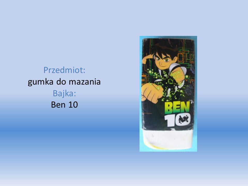 Przedmiot: gumka do mazania Bajka: Ben 10