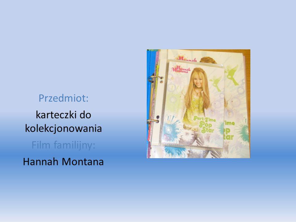 Przedmiot: karteczki do kolekcjonowania Film familijny: Hannah Montana