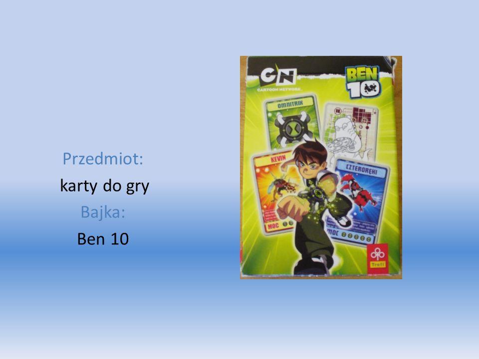 Przedmiot: karty do gry Bajka: Ben 10