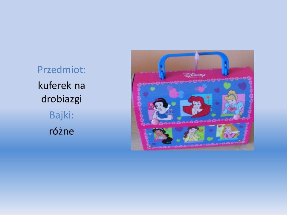 Przedmiot: kuferek na drobiazgi Bajki: różne
