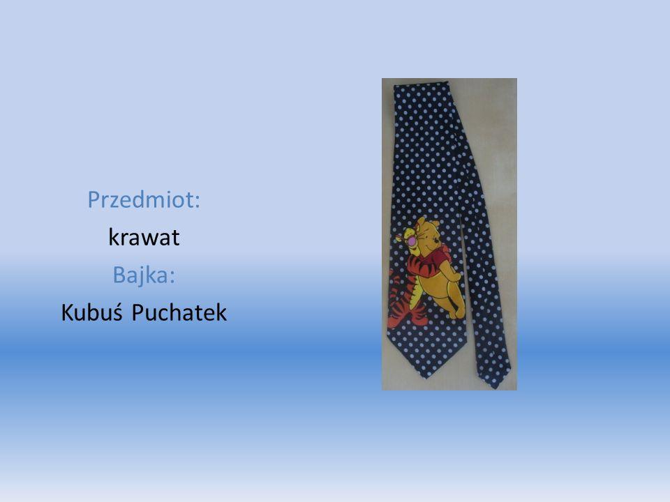 Przedmiot: krawat Bajka: Kubuś Puchatek