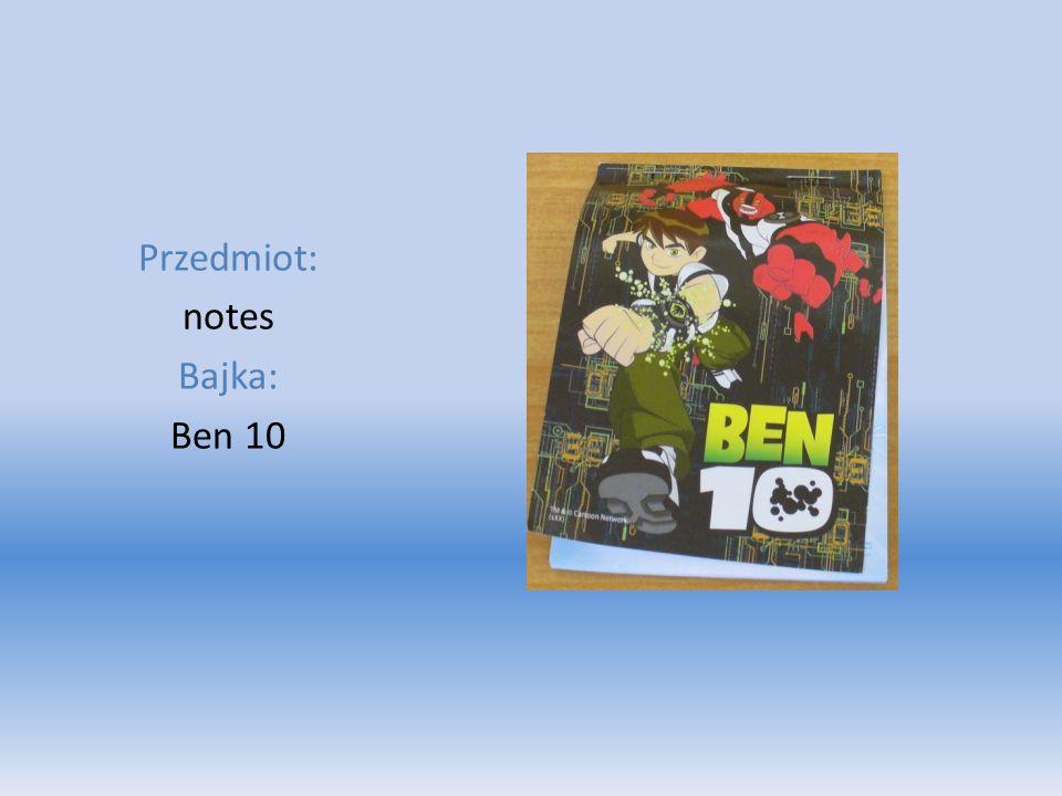Przedmiot: notes Bajka: Ben 10