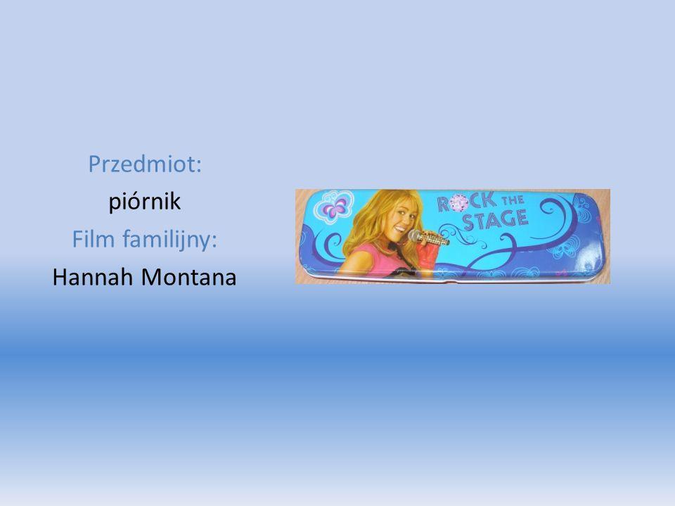Przedmiot: piórnik Film familijny: Hannah Montana