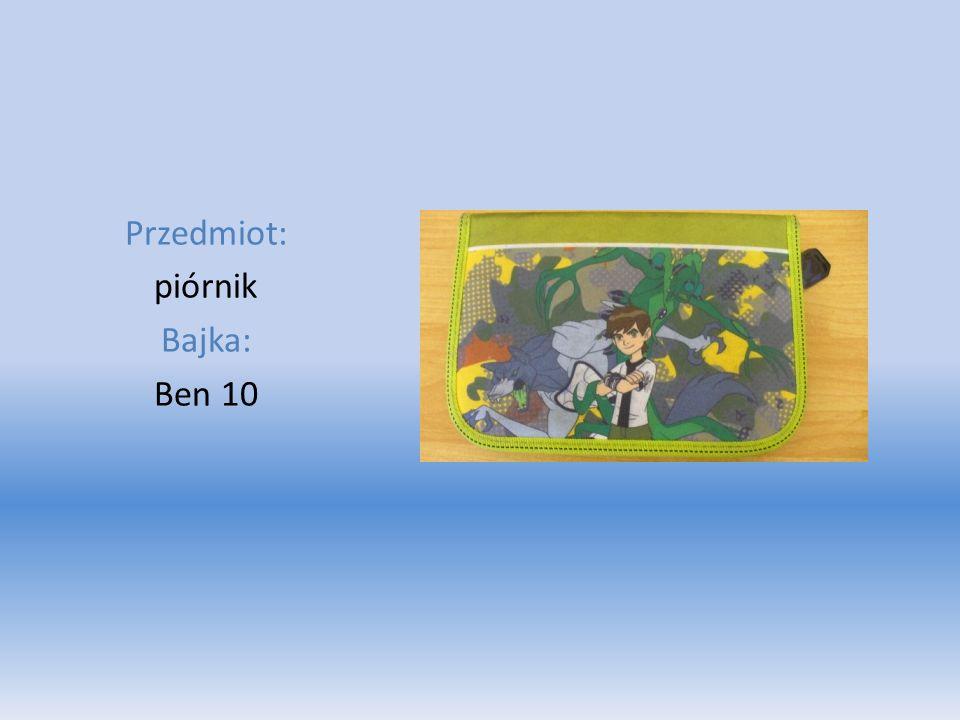 Przedmiot: piórnik Bajka: Ben 10