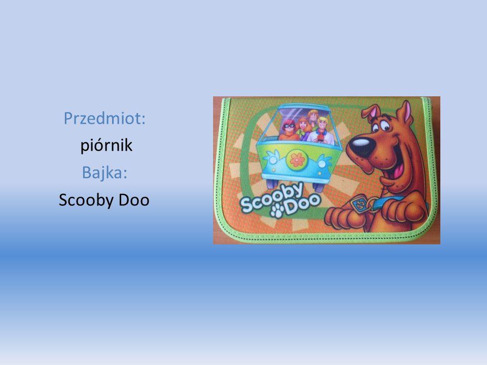Przedmiot: piórnik Bajka: Scooby Doo