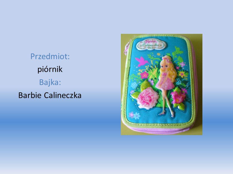 Przedmiot: piórnik Bajka: Barbie Calineczka