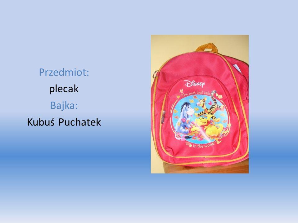 Przedmiot: plecak Bajka: Kubuś Puchatek