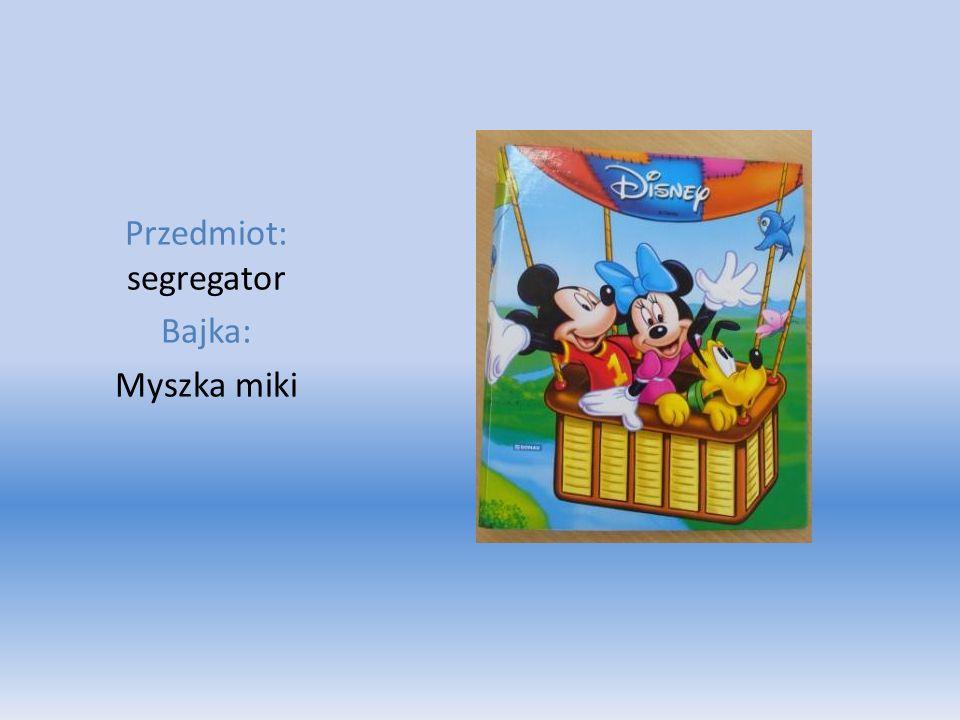 Przedmiot: segregator Bajka: Myszka miki
