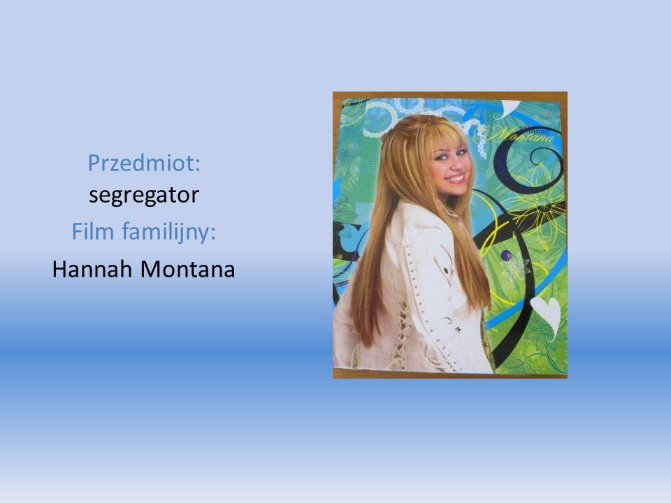 Przedmiot: segregator Film familijny: Hannah Montana