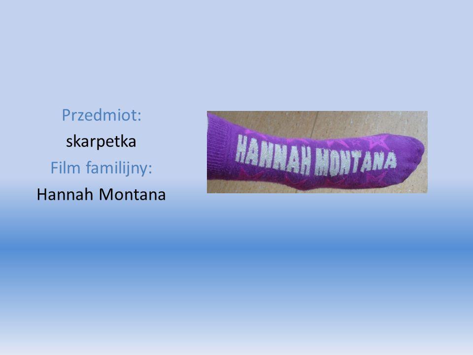 Przedmiot: skarpetka Film familijny: Hannah Montana