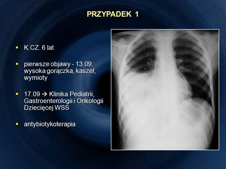 TK klatki piersiowej (05.10) TORAKOSKOPIA (08.10)