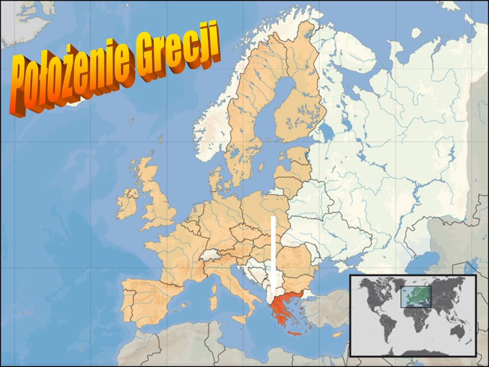 Grecja - kraj w południowo-wschodniej części Europy, zajmując południową część Płw.