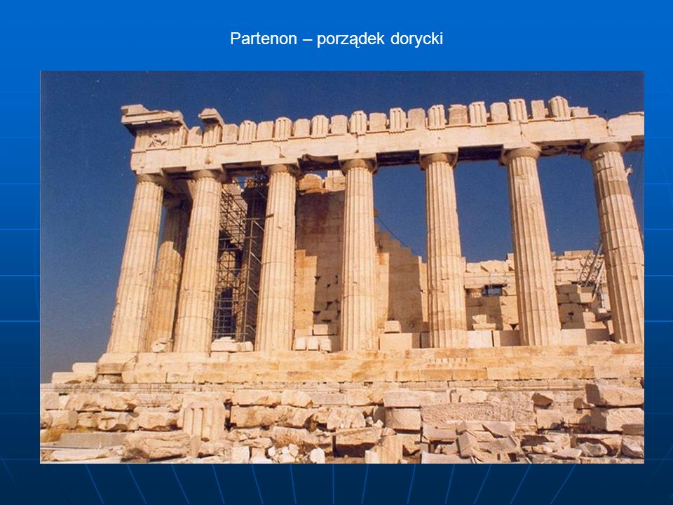 Partenon – porządek dorycki