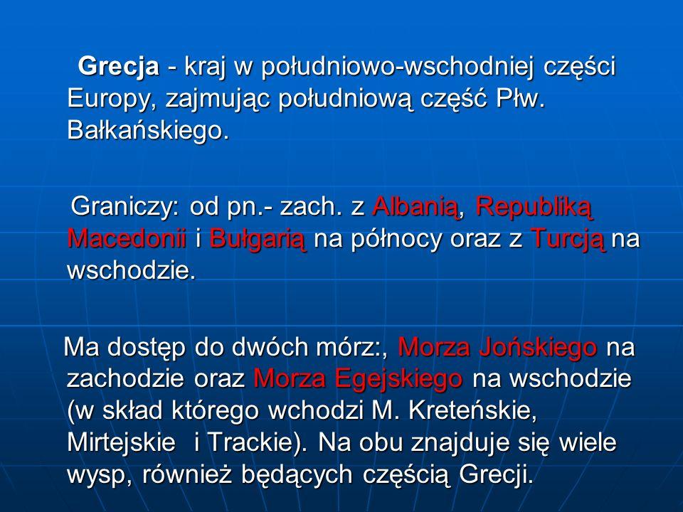 WALORY KRAJOZNAWCZE Spis walorów Grecji, które znalazły się na Liście Światowego Dziedzictwa Kulturalnego i Naturalnego UNESCO: 1.Świątynia Apollina Epikuriosa a Bassaj – 1986 r.
