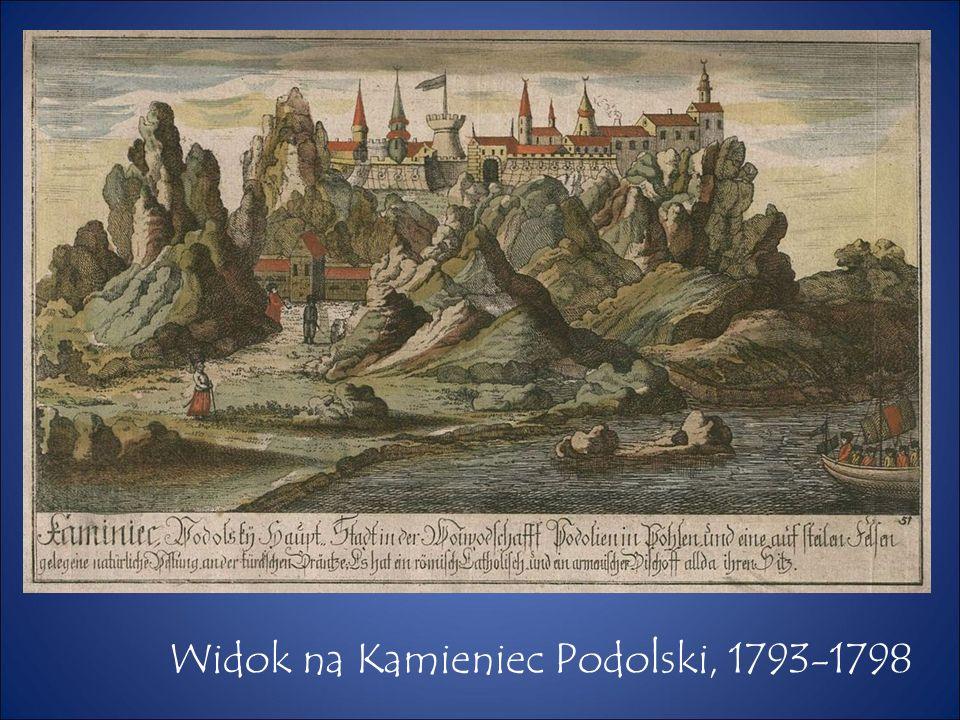 Widok na Kamieniec Podolski, 1793-1798