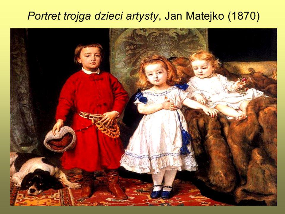 12 Portret trojga dzieci artysty, Jan Matejko (1870)
