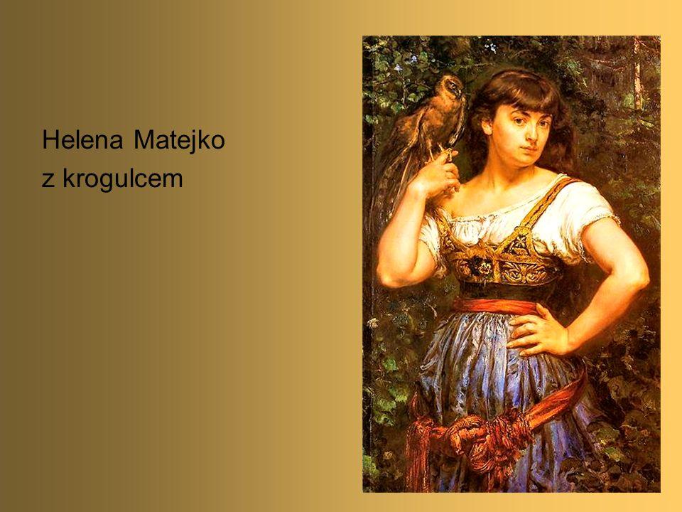 14 Helena Matejko z krogulcem