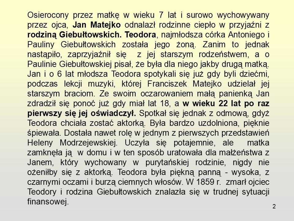 13 Dzieci Jana Matejki i Teodory Giebułtowskiej