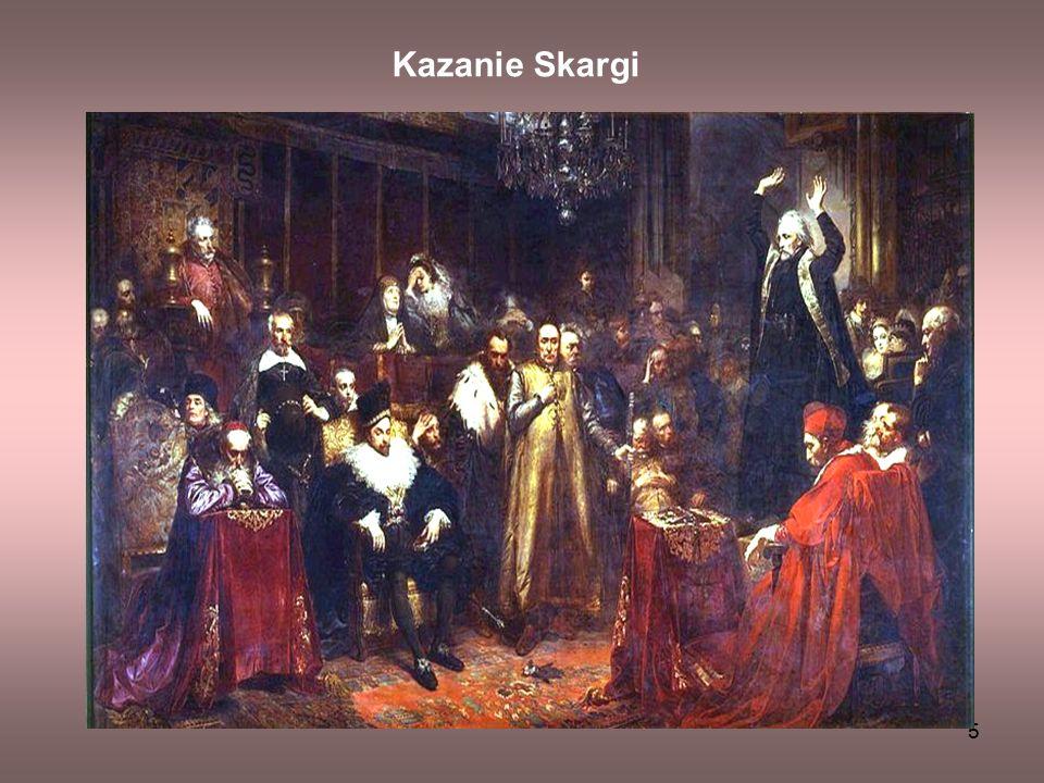 6 W roku 1864, gdy Jan Matejko miał 26 lat, odniósł ogromny sukces dzięki obrazowi Kazanie Skargi , który otrzymał złoty medal na wystawie w Paryżu i został zakupiony przez hrabiego Potockiego.