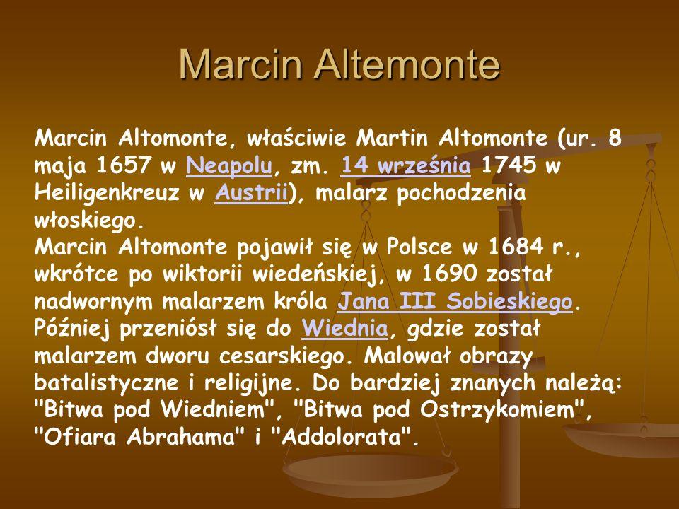 Marcin Altemonte Marcin Altomonte, właściwie Martin Altomonte (ur.