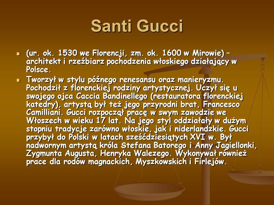 Santi Gucci (ur. ok. 1530 we Florencji, zm. ok.