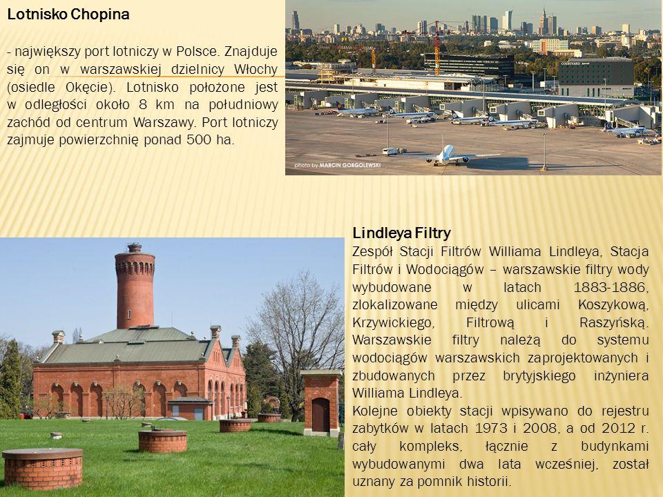 Lotnisko Chopina - największy port lotniczy w Polsce.