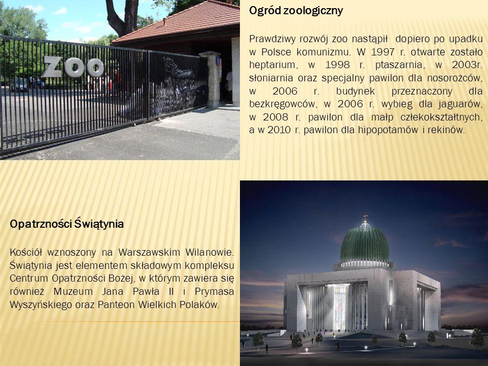 Ogród zoologiczny Prawdziwy rozwój zoo nastąpił dopiero po upadku w Polsce komunizmu.