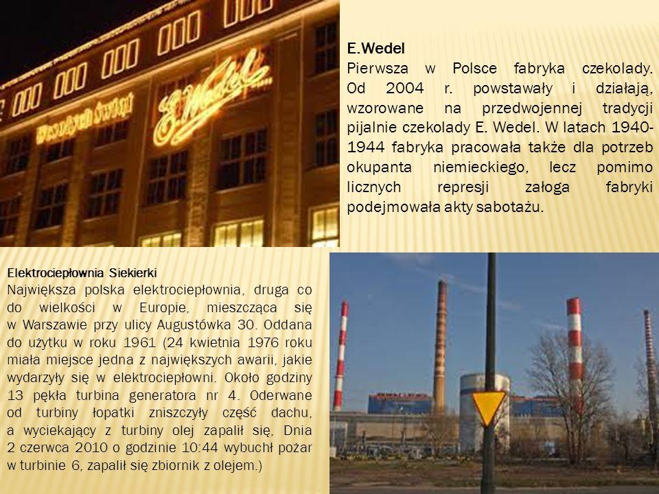 E.Wedel Pierwsza w Polsce fabryka czekolady. Od 2004 r.