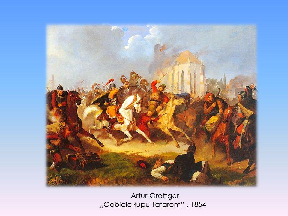 """Artur Grottger,,Odbicie łupu Tatarom"""", 1854"""