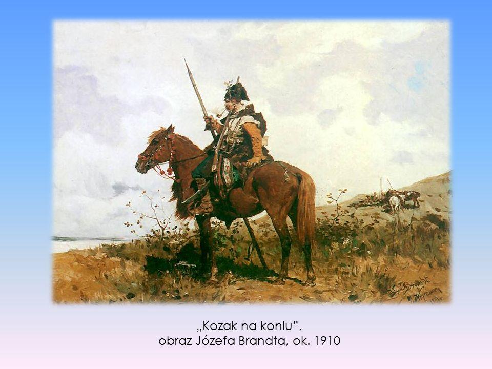 """Kozak na koniu"", obraz Józefa Brandta, ok. 1910"