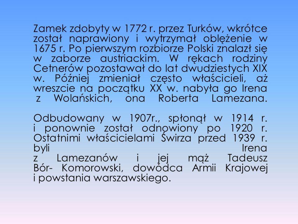 Zamek zdobyty w 1772 r. przez Turków, wkrótce został naprawiony i wytrzymał oblężenie w 1675 r. Po pierwszym rozbiorze Polski znalazł się w zaborze au