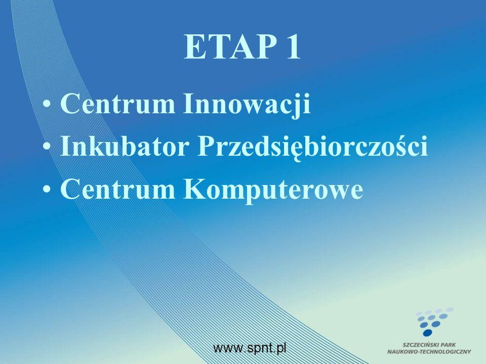 ETAP 1 Centrum Innowacji Inkubator Przedsiębiorczości Centrum Komputerowe www.spnt.pl