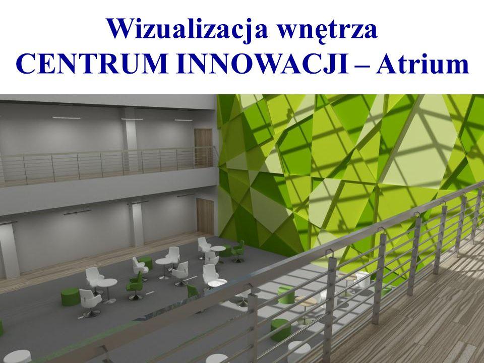 Wizualizacja wnętrza CENTRUM INNOWACJI – Atrium