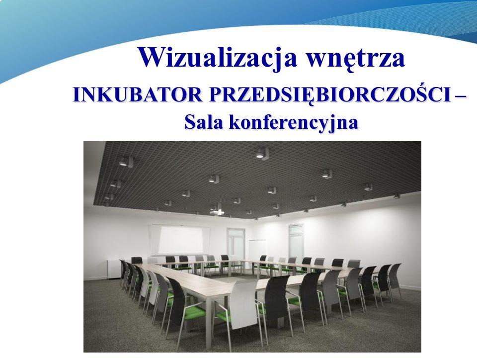 Wizualizacja wnętrza INKUBATOR PRZEDSIĘBIORCZOŚCI – Sala konferencyjna