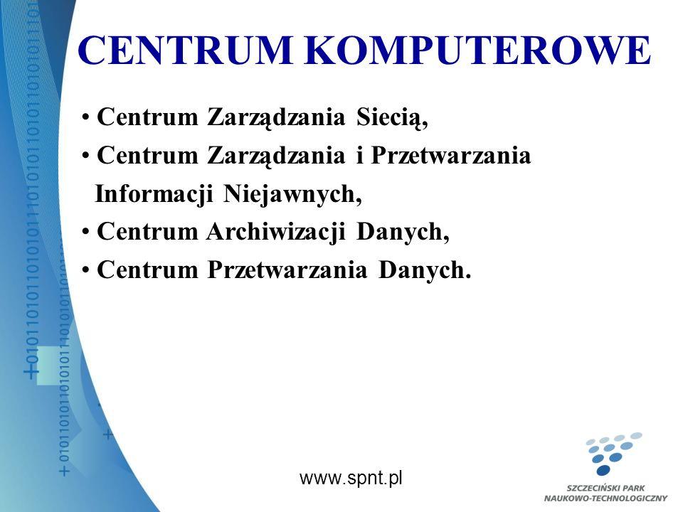 CENTRUM KOMPUTEROWE www.spnt.pl Centrum Zarządzania Siecią, Centrum Zarządzania i Przetwarzania Informacji Niejawnych, Centrum Archiwizacji Danych, Centrum Przetwarzania Danych.